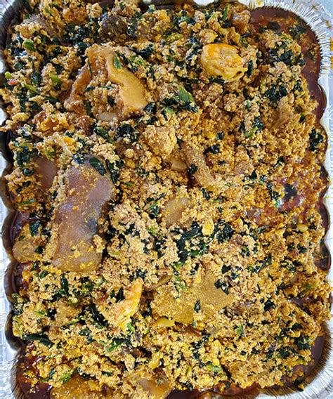 See recipes for egusi soup, maize swallow with egusi soup too. Egusi soup - My Heritage Foods