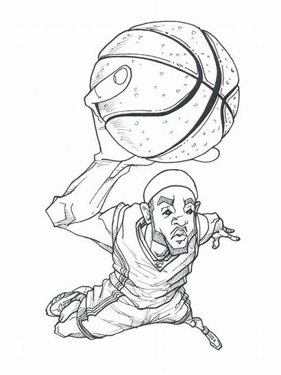 Lebron James Coloring Drawing Pages Drawings Deviantart