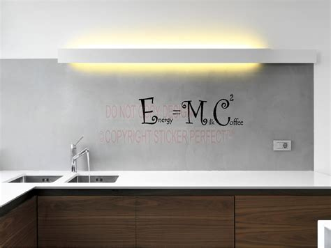 energy equals plus coffee squared e mc2 kitchen vinyl wall decals quotes sayings