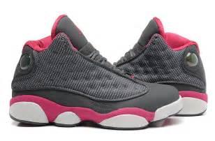 girls air jordan 13 retro gs cool grey fusion pink white for sale online new jordans 2015
