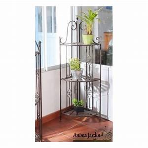Plante D Intérieur Pas Cher : etag re d 39 angle pour plantes sellette 3 niveaux m tal ~ Dailycaller-alerts.com Idées de Décoration