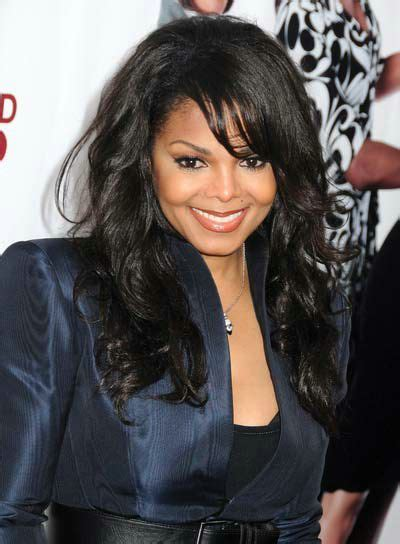 janet jackson hairstyles with bangs curly hair curly