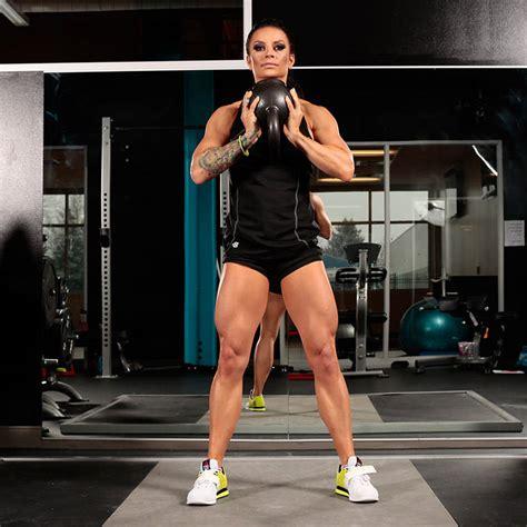 bodybuilding sumo squat kettlebell workout bikini parker fitness annie body exercises