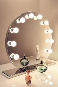 Miroir Hollywood Pas Cher : mirror finish hollywood make up mirror with cool white led lamps k251cw ebay ~ Teatrodelosmanantiales.com Idées de Décoration