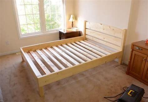 queen size bed   lumber bed ideas   diy