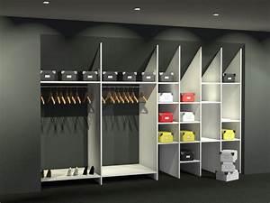 Fabriquer Un Dressing En Bois : meuble penderie dressing en sous pente idcoop ~ Dailycaller-alerts.com Idées de Décoration