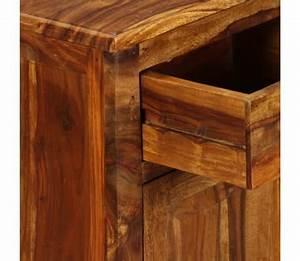 Table De Chevet Bois Massif : acheter vidaxl table de chevet bois massif de sesham 40 x 30 x 50 cm pas cher ~ Teatrodelosmanantiales.com Idées de Décoration