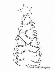 Christmas, Tree, Stencil, 07