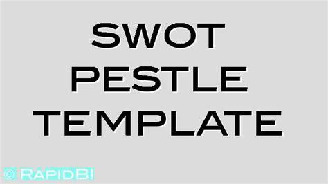 swot analysis  pestle analysis templates