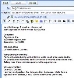 Job Search Follow Up Email