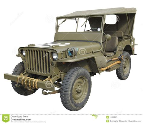 military jeep side wwii american jeep side view stock image image 11356757