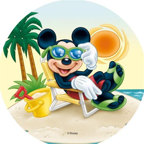 coloriage mickey  la plage  imprimer  colorier