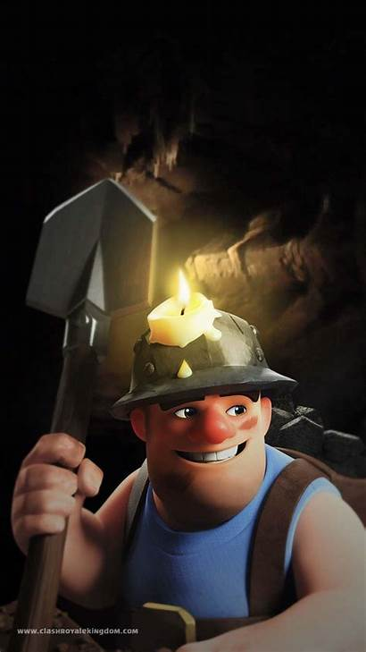 Clash Royale Miner Wallpapers Clans Clan Cartoni