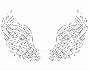 Easy Angel Wings Drawing   Car Interior Design