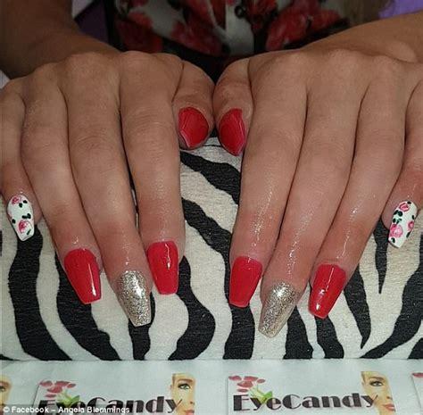 manchester woman horrified    nails manicure