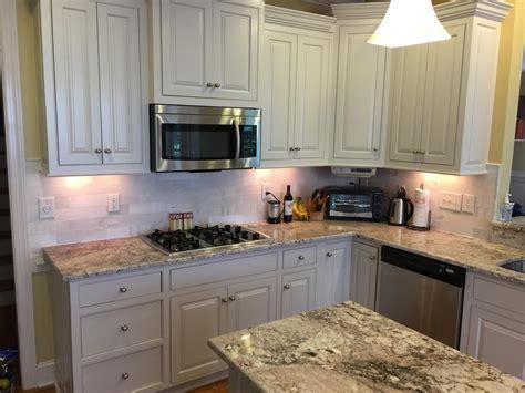Balboa Mist Kitchen Update   2 Cabinet Girls