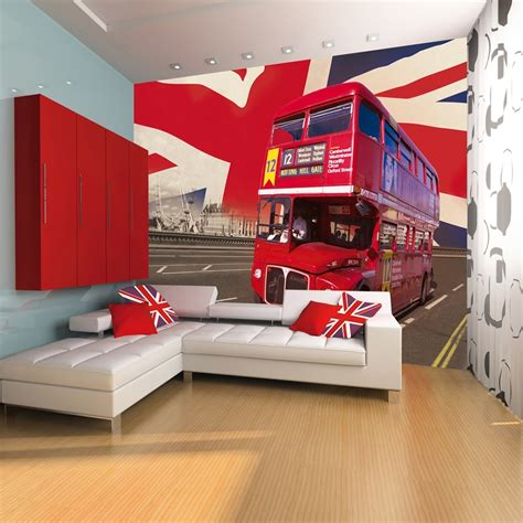 wall london bus giant wallpaper mural london bus