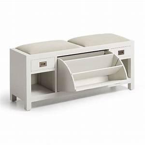 Meuble A Chaussure Banc : banc entree meuble chaussure maison design ~ Preciouscoupons.com Idées de Décoration