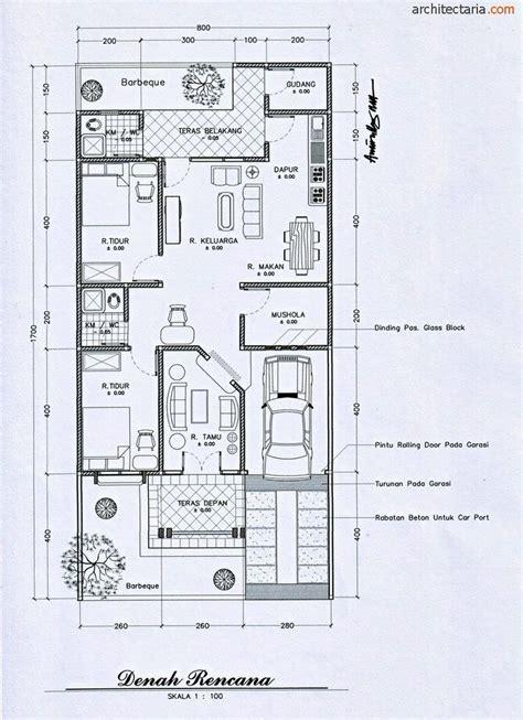 gambar contoh denah rumah minimalis modern desain