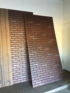 Faux brick panels with charming brick wall false for Faux brick paneling interior