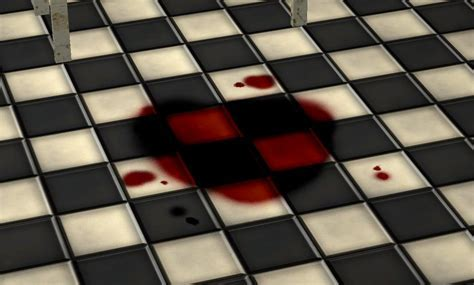 Mod The Sims   Chequered Floor Tile With Bloodstain