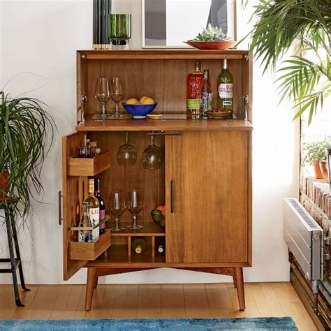 Best Kitchen Cabinet Features by Mid Century Bar Cabinet Large West Elm