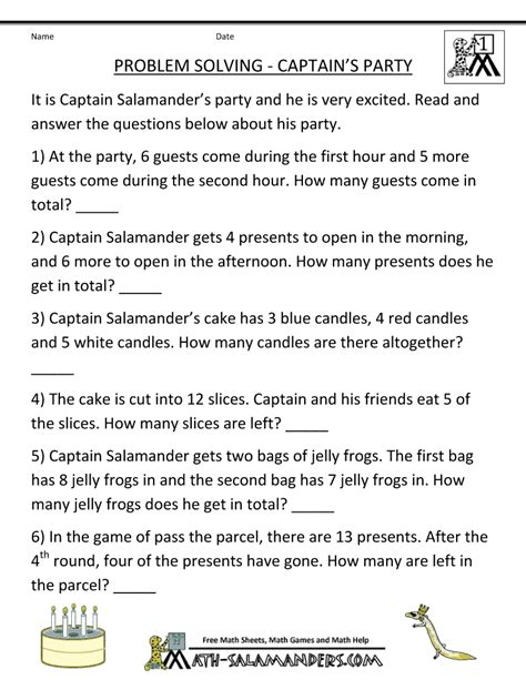math problem for math problems for children 1st grade