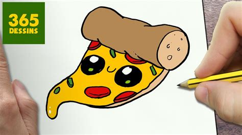 Comment Dessiner Pizza Kawaii Étape Par Étape Dessins