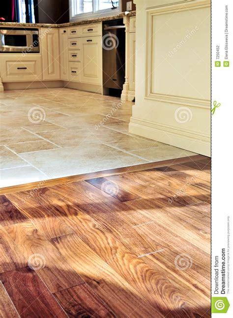 Hardwood And Tile Floor Stock Photo Image Of Dining