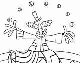 Clown Juggler Coloring Para Colorear Malabaristas Dibujos Malabarista Coloringcrew Circus Payaso sketch template