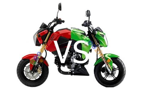 kawasaki   grom side  side comparison part