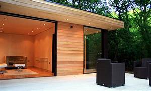 Prefabricated Wood And Glass House In The Forest