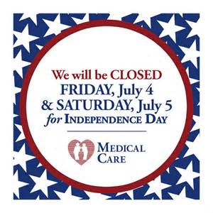 Office Will Be Closed 4th of July