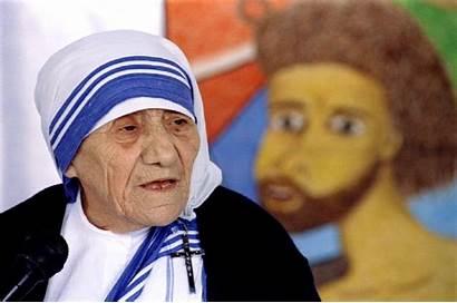 Teresa Mother Indian Saint Birth Meeting Sainthood