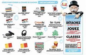 Concours Monopoly d ici 2017 chez McDonald s Édition 150e Concours du Jour
