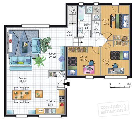 maison de plainpied 2 d 233 du plan de maison de plainpied 2 faire construire sa maison