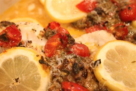 Cooking With Elise  Baked Fish Mediterranean Style