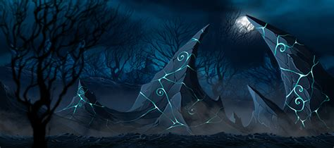 hand painted dark fantasy game backgrounds