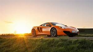 Full HD Wallpaper Mclaren Roadster Luxury Sunset Desktop