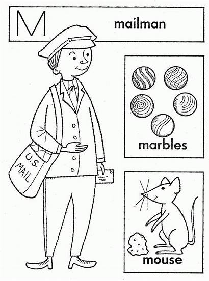 Coloring Mailman Popular Library Clipart Line