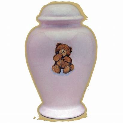 Urn Bear Teddy Infant Urns Pink Cremation