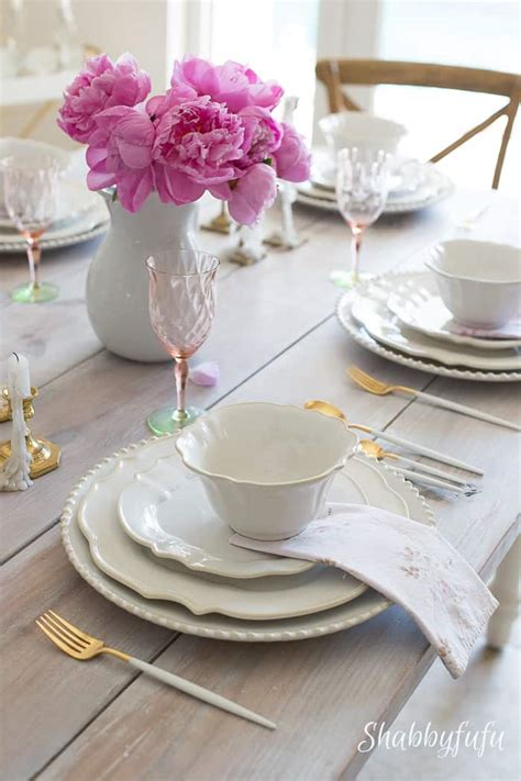 practical table setting ideas  sizable results shabbyfufucom