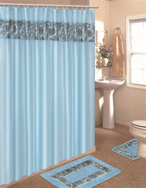 home dynamix home design shower curtain and bath rug set
