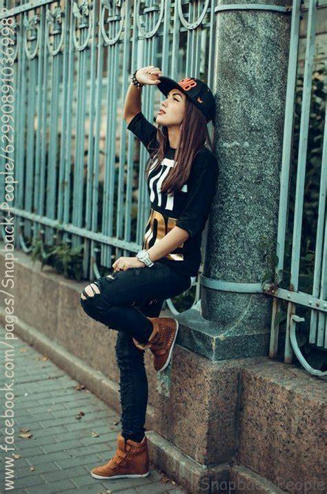 fashion girl  snapback swag girl style tomboy