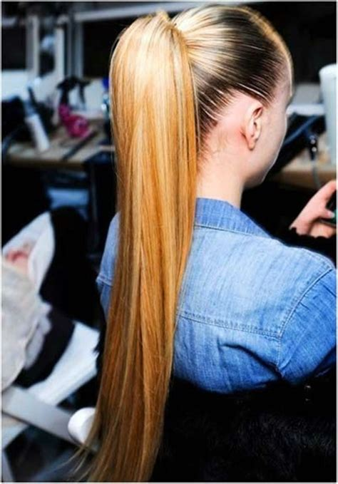 incredibly  easy ponytail hairstyles  long hair