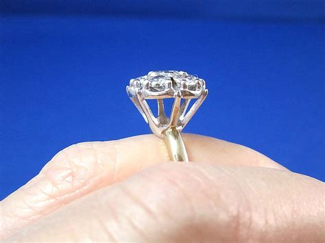 cluster vintage cocktail engagement ring 14k from
