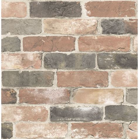 2922 22320 Rustin Red Reclaimed Bricks Wallpaper By A