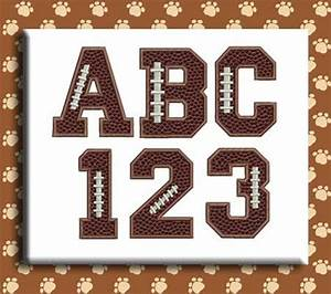 football applique alphabet embroidery design football With football letters and numbers