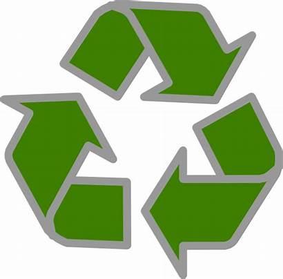 Recycle Grey Clip Clker Clipart Domain Vector
