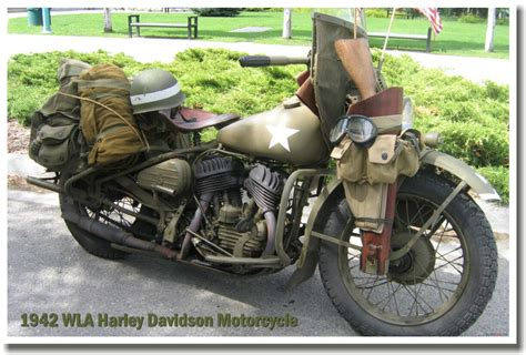 1942 Wla Harley Davidson Motorcycle Military Army Wwii